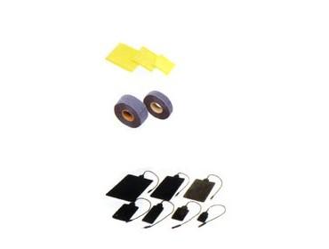 Electrodes caoutchouc 6x8 la paire